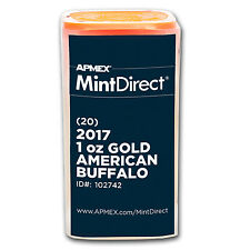 2017 1 oz Gold American Buffalo (20-Coin MintDirect® Tube) - SKU #102742