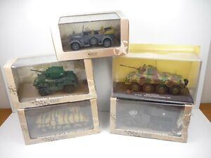 KAS23 LOT de 5 véhicules MILITAIRES 1/43 Collection cassés broken models rotos