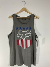 Fox Racing Freedom Shield Tank Top Size: LARGE Gray NWT