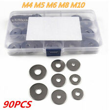 304 Stainless A2-70/C Extra Large Flat Washer M4 M5 M6 M8 M10 90Pcs/Set Boxed