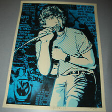 BLUE Keith Morris Shepard Fairey Poster Obey Giant Print Signed Glen Friedman