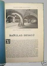 BOLETÍN DE LA SOCIEDAD DE ATRACCIÓN DE FORASTEROS. BAÑOLAS - BESALÚ.1918.