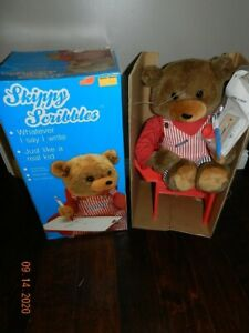 SKIPPY SCRIBBLES TEDDY BEAR WONDERRAMA ANIMATED DRAWING TOY 1990 - Please Read