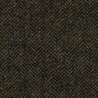 Abraham Moon Fabric 100% Pure Wool Brown Herringbone Weave Ref 1881/37