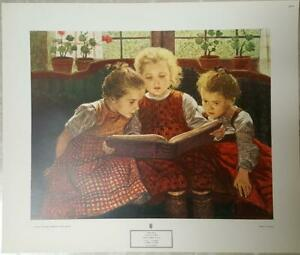 THE FAIRY TALE, Lithograph by Walter Firle, New York Graphic Society 1943