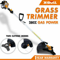 X-BULL 28CC Grass Trimmer  String Gas Powered Straight Shaft Recon 2-Cycle