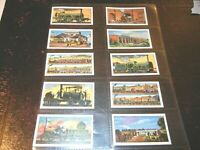 1964 Browne Bros. History of the Railways trains complete trade  card set 25 lot