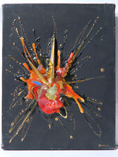 Roger BONILLO 20ème siècle ABSTRAIT Tableau Peinture Technique mixte ART MODERNE