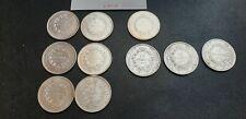 Monnaies Belles pièces France 10 francs Argent Hercule 1965-1966-1967-1970