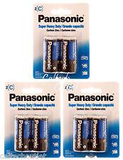 """6PK Panasonic """"C"""" Size """"C"""" Battery Batteries Super Heavy Duty Power Zinc Carbon"""