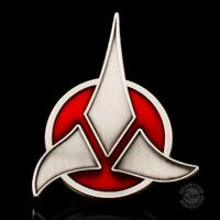 "QMX Star Trek Klingon Logo Magnetic Communicator 2.5"" Pin- Metal- MOC"