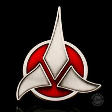 "QMX Star Trek Klingon Logo Magnetic Communicator 2.5"" Pin- Metal- MOC"