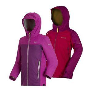 Regatta Allcrest Girls Kids School Lined Waterproof Jacket Rain Coat RRP £50