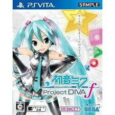 PS VITA SEGA Hatsune MIKU Project DIVA F Import Japan Free Shipping F/S