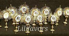 12 First Communion Favor Gold Holy Sacrament  Primera Comunion Bautizo Recuerdos