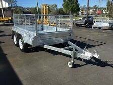 NEW HEAVY DUTY Galvanised 8x5 Tandem Axle Box Trailer 600mm Cage available