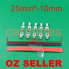 10 Lug Terminals 25-10 plus heat shrink for Bank Camp Ring terminal Startor Wire