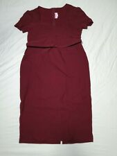 Pinup Girl Clothing Couture Laura Wiggle Dress in Short Sleeved Burgundy 2XL