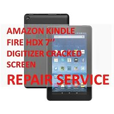 AMAZON KINDLE FIRE HDX 7''DIGITIZER CRACKED BROKEN SCREEN MAIL-IN REPAIR SERVICE