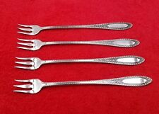 4 Cocktail Seafood Forks ~ Ramona / Lakewood Wm A Rogers Stainless 6""