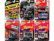 STREET FREAKS 2017 RELEASE 4B SET OF 6 CARS 1/64 BY JOHNNY LIGHTNING JLSF006-B