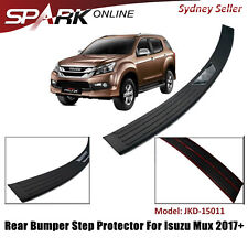 Rear Bumper Step Protector Scuff Plate Guard Plate Boot For Isuzu Mux MU-X 2017+