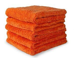 Edgeless Korean Microfibre Towel Cloths | Plush Buffing Polish Drying | 620GSM
