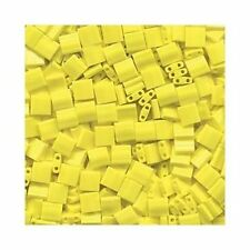 Tila Seed Beads Miyuki Square Opaque Yellow TL404 (7.2gr) 5mm Flat 2 Hole