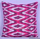 Indian Handmade Cotton Ikat Pillow Case Ethnic Kantha Sofa Cover Home Decor Art