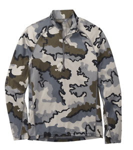Kuiu Ultralight Hunting Camo Peloton 118 Zip-T Sweatshirt Jacket XL - Vias