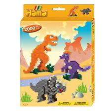Dinosaurier Hama Perlen Set 2000 - Kinder Midi 5mm Bügeln Handwerk
