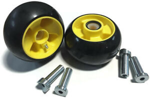 2 Pack Deck Gage Wheel replaces AM115488 fit's some John Deere (Yellow Center)