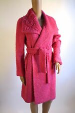 Charles Chang-Lima Bright Pink Knotty Coat - Belted