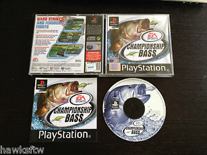 CHAMPIONSHIP BASS - COMPLETE - FOR PLAYSTATION PS1