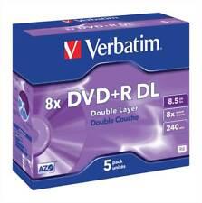 VERBATIM DVD + R a doppio strato 8x 8.5 GB JEWEL CASE 5 PZ