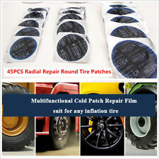 45PCS Multi S/M/L Cold Patch Radial Tire Repair Round Tubeless Patch Assortment