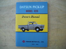 Datsun 1962-1965 Model 320 Pick-Up Truck Owners Manual. Reprint