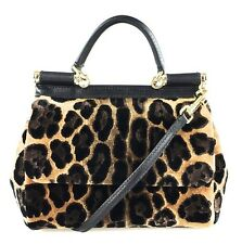 DOLCE & GABBANA HANDBAG - Mini Miss Sicily in Leopard Velvet - NEW with TAGS