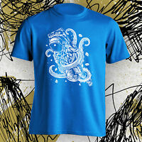 Hipster Shirt Astronaut T Tee Space New octopus attack funny graphic s m l xl