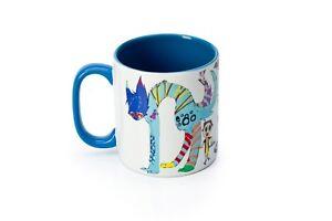 "IREEVES design ceramic blue/white mug ""DOROTHY"""