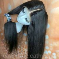 Top Quality Straight Lace Front Wig 100% Peruvian Remy Human Hair Full Lace Wigs