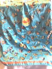 Vintage Women'S Accessories Ferrero Scarf 100% Polyester Playing Circus Animals