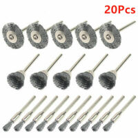 DREMEL STEEL WIRE NEEDLE BRUSH WHEEL TYPE CLEAN R8 10PCS 3mm ROTARY TOOL