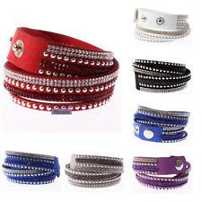 Fabric Crystal Cuff Fashion Bracelets