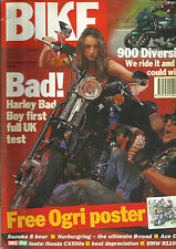 BIKE NOV 1994 HARLEY BAD BOY 900 DIVERSION SUZUKA NURBURGRING ACE CAFE HONDA CX5