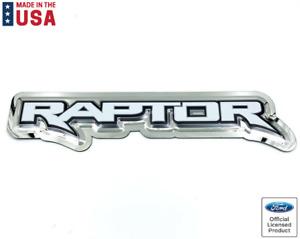 """Ford Raptor Logo Emblem Metal Sign - Licensed (23""""x5-1/2"""")"""