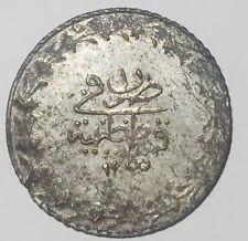 T1 Ottoman Turkey 20 para AH1255 -1 1839 km653 21mm silver coin