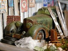 Mercedes 500K W29 Bj.1934 - Oldtimer Scheunenfund Diorama im Maßstab 1:43
