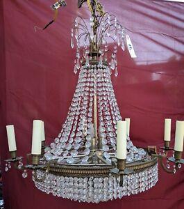 Vintage  8 Light Crystal Chandelier