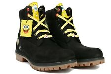 "SPONGEBOB SQUAREPANTS X TIMBERLAND 6"" MENS LIMITED WATERPROOF BOOTS NICKELODEON"